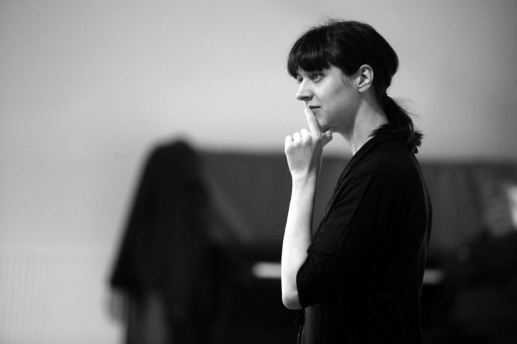 Blanche McIntyre in rehearsals,